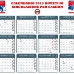 Blocco Mezzi Pesanti 2015 Calendario E Deroghe | Share The Knownledge