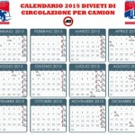 Blocco mezzi pesanti 2015: calendario e deroghe