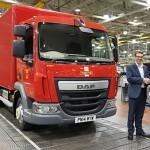 Veicoli Daf completi di allestimento dallo stabilimento Leyland Truck